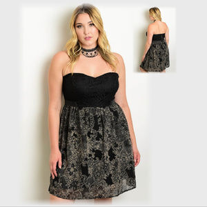 NWT Strapless lace dress